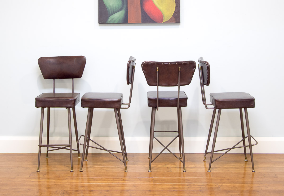 6091 Retro Kendall Bar Stools X 4 With Backs Bar