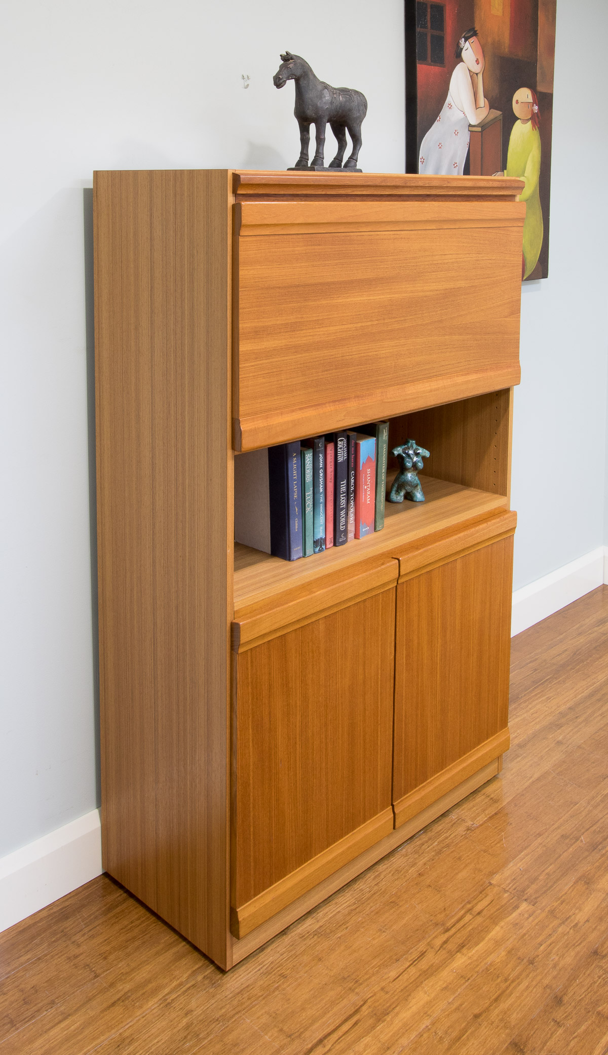 6111 Retro Parker Cocktail Cabinet Bar Open Bookcase